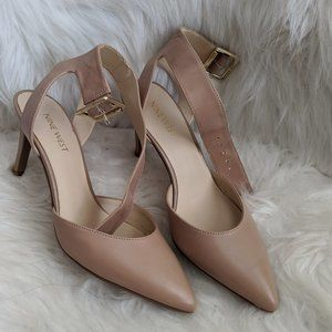 Ankle strap nude heels - Nine West